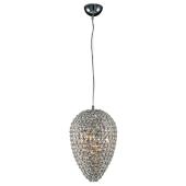 Lampa wisząca GANDIA 23cm kryształki chrom