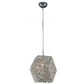 Lampa wisząca GANDIA 29cm kryształki chrom