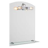 Lustro MARIE 70x50cm półka oświetlenie grubość szkła 4mm