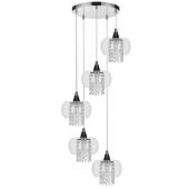 Lampa wisząca CORDIA 42cm chrom kryształki 5xE14
