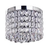 Lampa plafon ANETTA 40cm chrom/kryształ