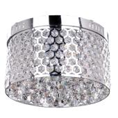 Lampa plafon ANETTA 30cm chrom/kryształ