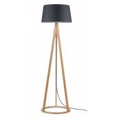 Lampa podłogowa KONAN 173cm dąb antracyt