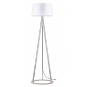 Lampa podłogowa KONAN 173cm dąb bielony biały klosz