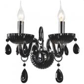 Lampa kinkiet QUEEN 34cm czarny kryształ