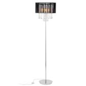Lampa podłogowa Essence MFM9262/3P BK Italux kryształki