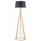 Lampa podłogowa KONAN 173cm buk antracytowy klosz