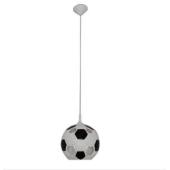 Lampa żyrandol wisząca PIŁKA 14,5cm czarna masa ceramiczna sport