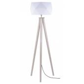 Lampa podłogowa FINJA 173cm dąb bielony biały klosz