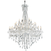 Lampa wisząca QUEEN 135cm transparentny kryształ