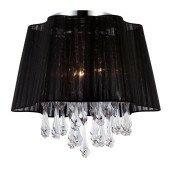 Lampa plafon Sammy kryształki czarny