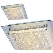 Lampa sufitowa plafon Italux VESTIRE C98004-17W chrom kryształ