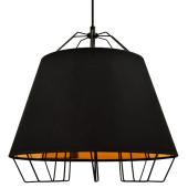Lampa wisząca żyrandol SORENTO Black czarna 36,5 cm kuchnia jadalnia długość 110 cm