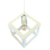 Lampa wisząca żyrandol CUBAN White biała 16 cm kuchnia jadalnia długość 130 cm