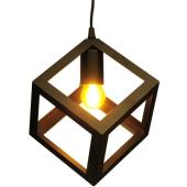Lampa wisząca żyrandol CUBAN Black czarna 16 cm kuchnia jadalnia długość 130 cm