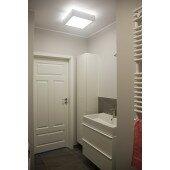 Lampa plafon Nekla 50cm sufitowa Cleoni kremowy połysk stalowa 75 kolorów