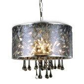 Lampa żyrandol Cleo szkło 40cm kryształki