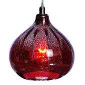 Lampa żyrandol BOMBAY czerwony szkło OD RĘKI 104994 Markslojd