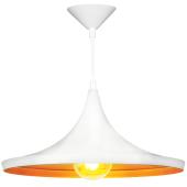Lampa wisząca żyrandol SORENTO White biała 37 cm kuchnia jadalnia długość 110 cm