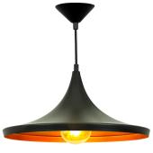 Lampa wisząca żyrandol SORENTO Black czarna 37 cm kuchnia jadalnia długość 110 cm