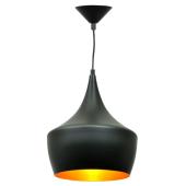 Lampa wisząca żyrandol SORENTO Black czarna 25 cm kuchnia jadalnia długość 110 cm