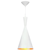 Lampa wisząca żyrandol SORENTO White biała 19 cm kuchnia jadalnia długość 110 cm
