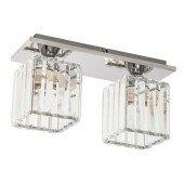 Lampa plafon CASINO 2xE27 chrom/kryształ